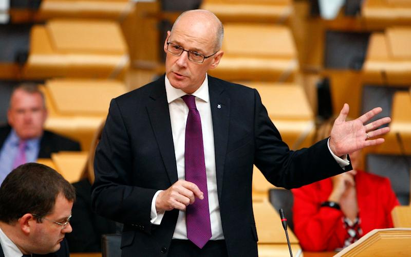John Swinney outlined his plans for a new Bill - Credit: PA