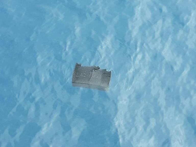 A piece of debris believed to be from the missing plane is shown in this Chilean Air Force photo (AFP Photo/HO)