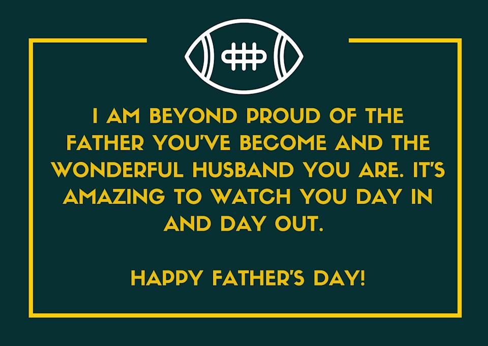 Father's Day Message for Husband