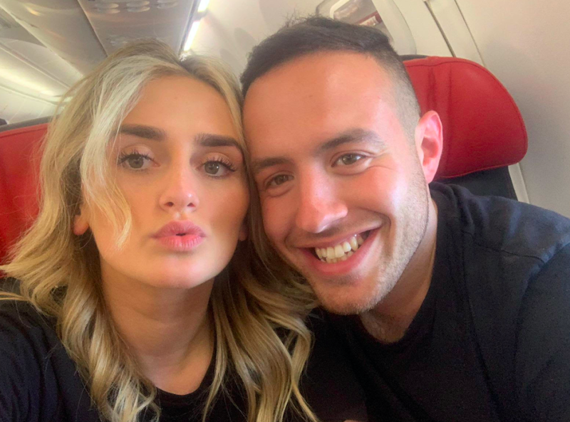 Josh Silver, pictured with girlfriend Flavia, claims he was kicked off a plane after revealing he had a nut allergy (SWNS)