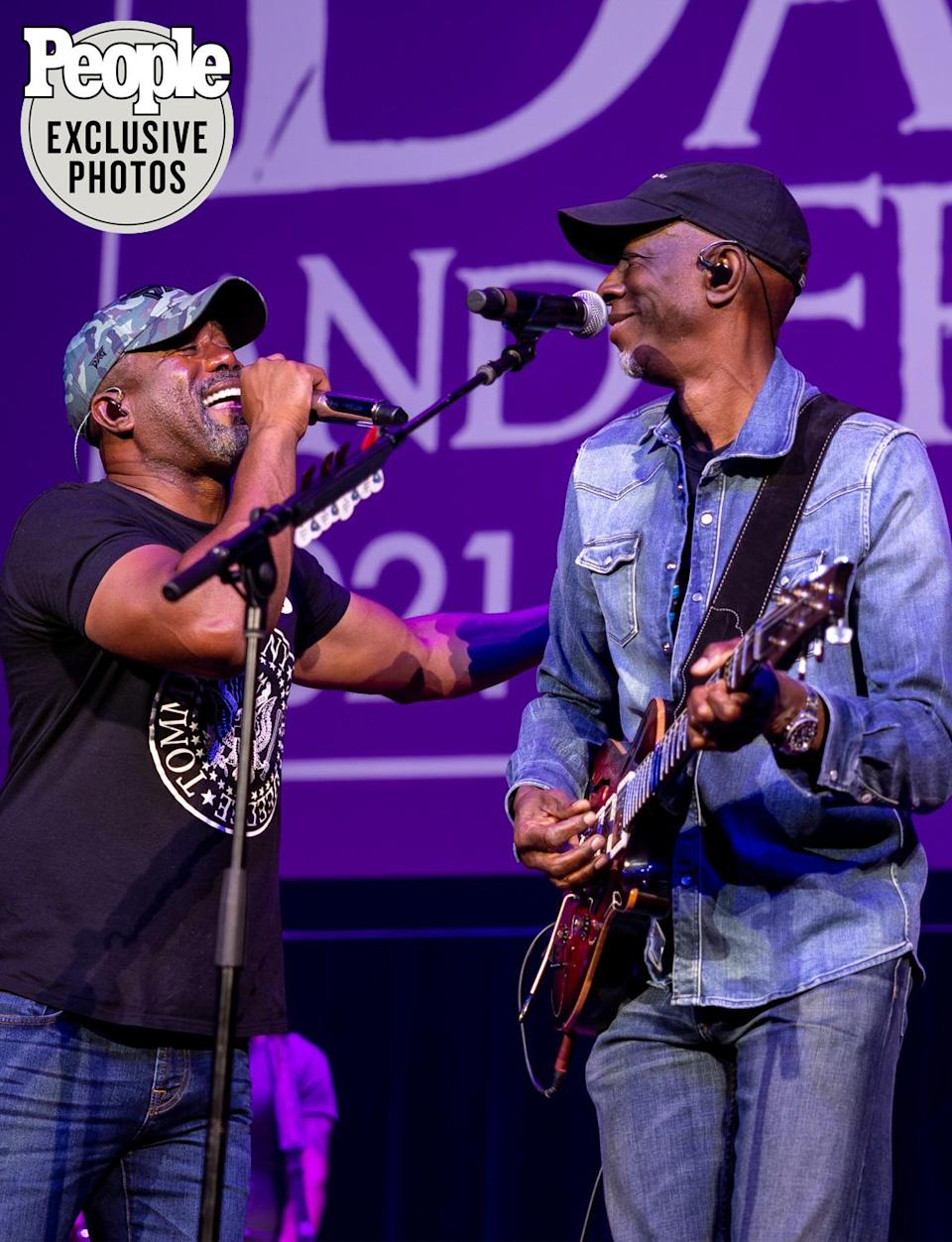 """<p>Rucker then introduced Grammy-winner Keb' Mo', who played """"Rita"""" and """"I Remember You"""" before inviting Rucker back to join him on Marvin Gaye classic """"What's Going On.""""</p>"""
