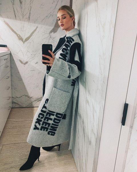 """<p>Just last year, models Bieber and Huntington-Whiteley, put a call-out for help tracking down Céline's AW17 blanket coat.</p><p>The coat and blanket scarves from the collection typified Philo's humour, just as SS13's furry shoes did, with the luxuriously crafted styles featuring the words 'bangers and mash,' and 'sticky toffee pudding' prints by New York based graphic designer Peter Miles.</p><p>'The coat that I sourced for both Rosie Huntington-Whiteley and Hailey Bieber would have to be my most memorable and unforgettable item,' says <a href=""""https://www.instagram.com/gabwallerdotcom/"""" rel=""""nofollow noopener"""" target=""""_blank"""" data-ylk=""""slk:Waller"""" class=""""link rapid-noclick-resp"""">Waller</a>.</p><p>'It's almost crazy to admit, but that single coat had the ability to change the entire direction of my career in less than 24 hours. One post from Rosie mentioning that I had sourced it resulted in an influx of requests for not only that but a wide range of old Céline pieces.'</p><p><a href=""""https://www.instagram.com/p/Bsvtrs4BzGY/"""" rel=""""nofollow noopener"""" target=""""_blank"""" data-ylk=""""slk:See the original post on Instagram"""" class=""""link rapid-noclick-resp"""">See the original post on Instagram</a></p>"""