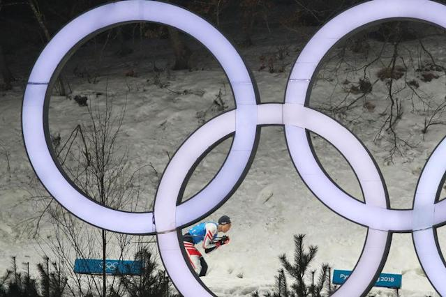 Nordic Combined Events - Pyeongchang 2018 Winter Olympics - Men's Team 4 x 5 km Final - Alpensia Cross-Country Skiing Centre - Pyeongchang, South Korea - February 22, 2018 - Mario Seidl of Austria competes. REUTERS/Carlos Barria