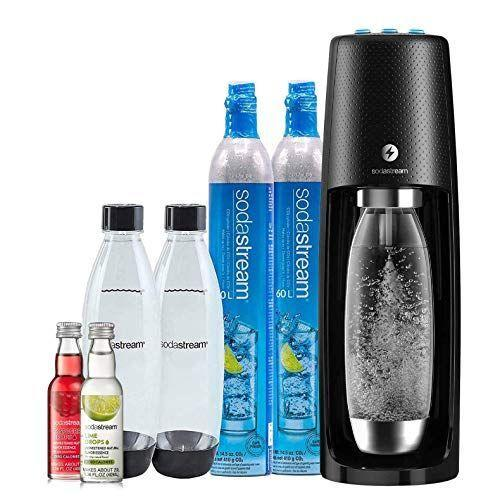 """<p><strong>sodastream</strong></p><p>amazon.com</p><p><strong>$189.81</strong></p><p><a href=""""https://www.amazon.com/dp/B07NTVKQN3?tag=syn-yahoo-20&ascsubtag=%5Bartid%7C2089.g.154%5Bsrc%7Cyahoo-us"""" rel=""""nofollow noopener"""" target=""""_blank"""" data-ylk=""""slk:Shop Now"""" class=""""link rapid-noclick-resp"""">Shop Now</a></p><p>If she's obsessed with sparkling water, you'll make her day (or year!) with this SodaStream machine. This bundle includes two carbon dioxide canisters, ensuring that she'll be stocked up for a while. </p>"""