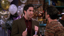 <p> David Schwimmer never gets the credit he deserves in Friends. Against the other characters, his boring, divorced father is the straight man to everyone else&#x2019;s comedy flailing. Which is a shame because Schwimmer has some of the best timing and delivery in the whole cast. Something he gets to show off during this episode&#x2019;s &#x2018;leather pants&#x2019; incident. Against a New Year&#x2019;s background that uses resolutions to exploit everyone&#x2019;s flaws beautifully, Ross gets trapped in a date&#x2019;s bathroom, unable to put the the trousers back on. Cue a gentle slide into madness involving talc, moisturizer, and an eventual shamefully bare-legged exit. It&#x2019;s also, crucially, the episode where Chandler and Monica&#x2019;s relationship is finally discovered by Rachel.&#xA0; </p> <p> <strong>Best line:</strong>&#xA0;Monica (on the phone speaker, as Rachel listens in secret): I can&apos;t wait to see you. I&apos;m just going to tell Rachel that I&apos;m doing laundry for a couple hours.<br> Chandler: Laundry. Huh. Is that my new nickname?<br> Monica: You know what your nickname is, Mr Big&#x2026;<br> Rachel: AHHHHH! </p>