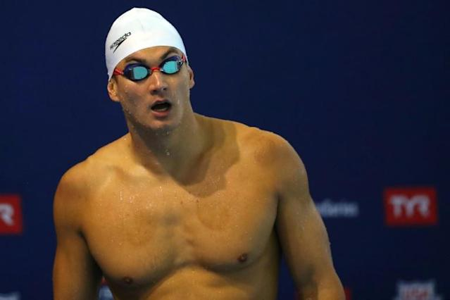 US swimmer Nathan Adrian, a five-time Olympic relay champion, says he doesn't want to compete in the Tokyo Olympics under current conditions (AFP Photo/Maddie Meyer)