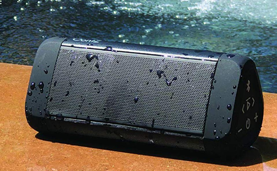 No joke: This waterproof speaker is $18 today. (Photo: Amazon)