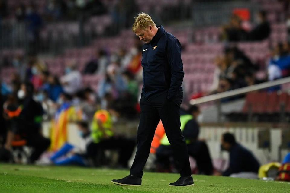 Ronald Koeman is under mounting pressure amid Barcelona's poor run of form  (Getty Images)