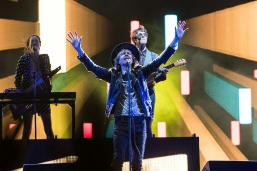 US musician Beck performs on stage in Quebec City the Festival d'ETE for the Canadian city's summer festival