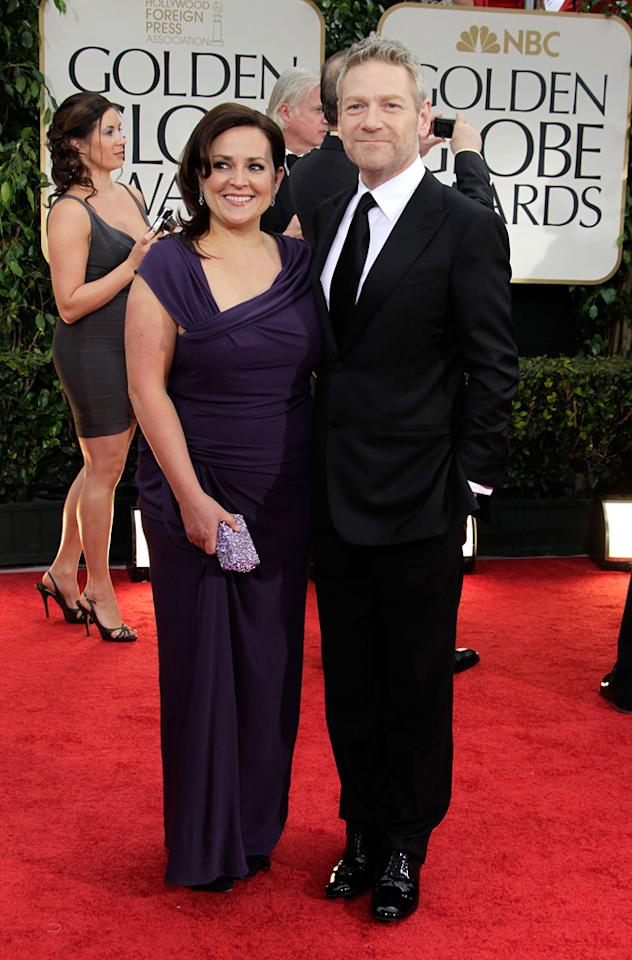 Kenneth Branagh and guest arrive at the 69th Annual Golden Globe Awards in Beverly Hills, California, on January 15.