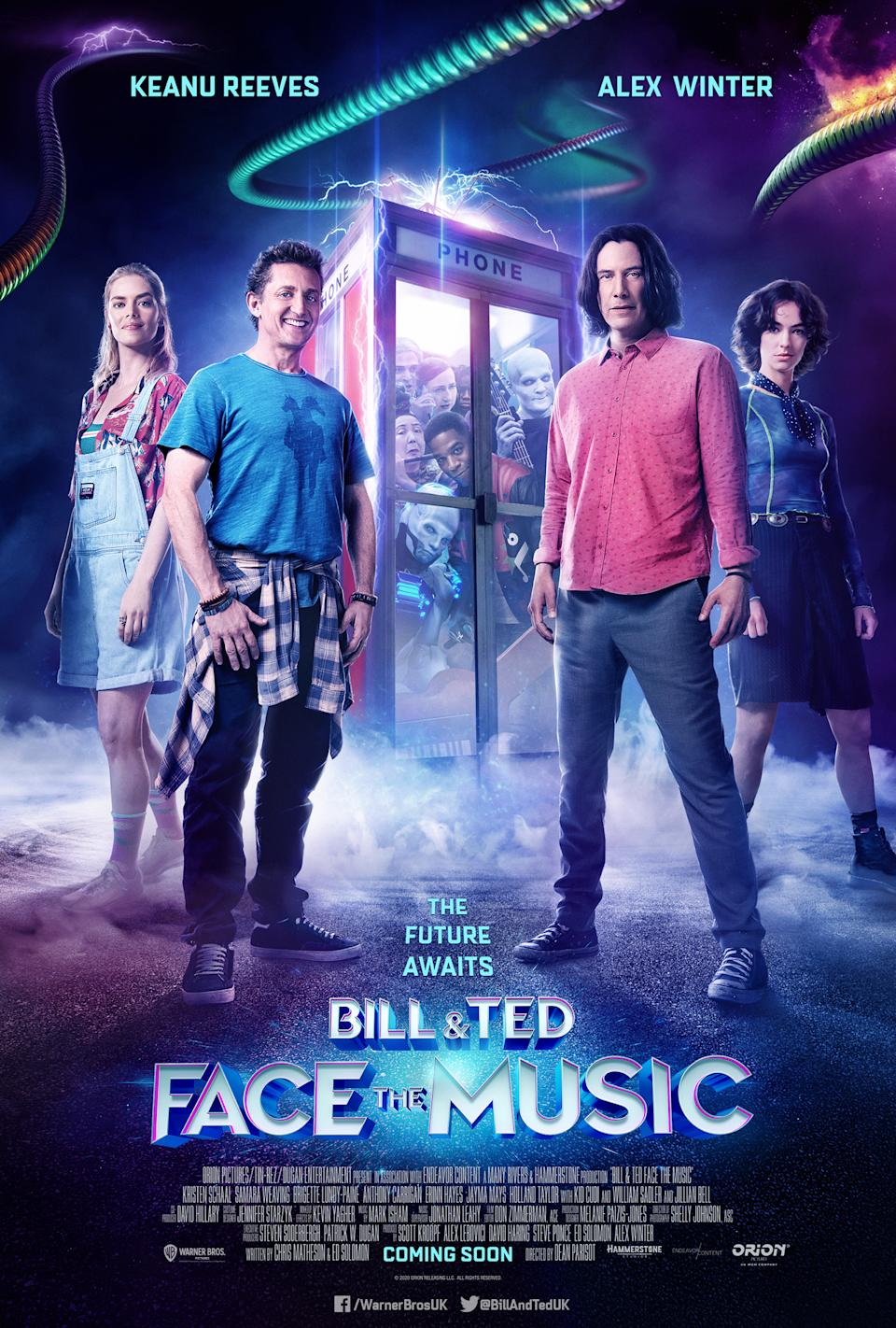 The main poster for Bill and Ted Face The Music. (WB)