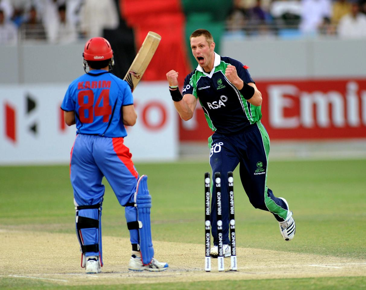 Boyd Rankin (Ireland): The tall Irish fast bowler took 15 wickets from 11 matches, with a best of 4-9. Rankin took these wickets at an average of 11.06 and strike rate of 15.6; he was also miserly with the ball as his economy rate of 4.25 suggests.