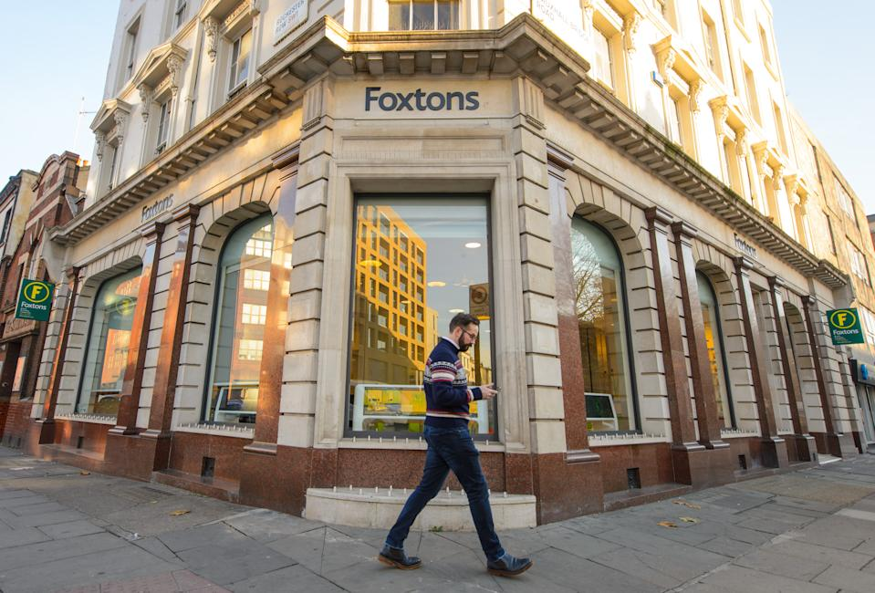 General view of a branch of Foxtons estate agents, in central London.