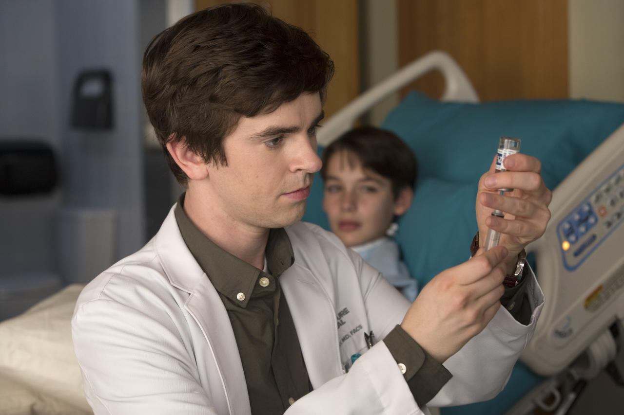 "<p>ABC's latest medical drama may be a formulaic blend of <em>Grey's Anatomy</em> and <em>House</em>, but it's the fall's highest-rated new drama for one reason and one reason only: star Freddie Highmore. So why does <em>The Good Doctor</em> continue to insist on showing us scenes that do not include Freddie Highmore? The only time we want to see characters who are not Highmore's Dr. Shaun Murphy are <em>(a)</em> when they are talking to Dr. Shaun Murphy or <em>(b)</em> when they are listening to Dr. Shaun Murphy talk. And if for some reason the story requires a scene that does not involve Highmore, <em>The Good Doctor</em> would do well to include a picture-in-picture ""Dr. Shaun Murphy cam,"" so that we know where our favorite character is at all times. — <em>Kristen Baldwin</em><br /><br />(Jack Rowand/ABC) </p>"