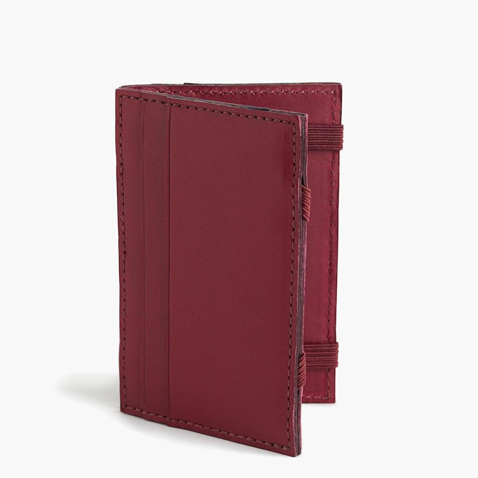 <p>Sleek and sophisticated, this <span>J.Crew Leather Magic Wallet</span> ($45) is an upgrade he will definitely appreciate. </p>