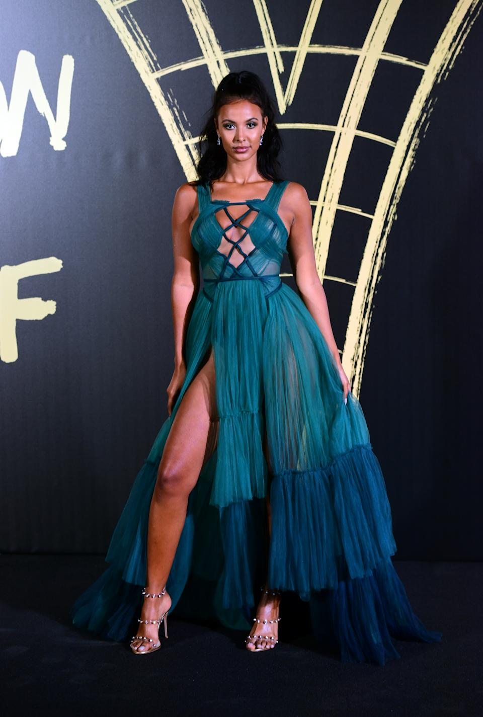 Maya Jama arriving on the red carpet for Naomi Campbell's Fashion For Relief Gala during London Fashion Week [Photo: PA]