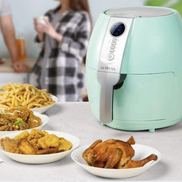"""You can cook so many different dishes in this using the power of rapid air technology that it'll spoil you for other methods of cooking forever. Perfectly crisped french fries, veggies and chicken wings in less than 20 minutes — no oil (or patience!!) required.<br /><br /><strong>Promising review:</strong>""""I have been thinking of getting an air fryer for a while now. The price point and the comments regarding customer service finally pushed me to purchase this fryer. The <strong>bestcooking gadget I have ever purchased!</strong>I have had it for four days and have used it every day!<strong>I have made fries, fish, shrimp, potatoes, and bacon in this marvel!</strong>The flavor is amazing and I have not used any oil yet. I did purchase an accessory kit but have not used it yet — still making things as it came.<strong>I am great at burning things in the pan and in the oven.</strong>I really like how you can open the basket to check the food as it is cooking without losing the time or the temperature.<strong>I have not burned one thing!</strong>It is extremely easy to clean! It is large, but I WILL make room for it on my counter!"""" —<a href=""""https://www.amazon.com/gp/customer-reviews/R3719QOKGCKX7K?ASIN=B07T2GFD2Z&ie=UTF8&linkCode=ll2&tag=huffpost-bfsyndication-20&linkId=f1343cc4d5fb0acdf4385e932b677596&language=en_US&ref_=as_li_ss_tl"""" target=""""_blank"""" rel=""""noopener noreferrer"""">CK</a><br /><br /><strong>Get it from Amazon for<a href=""""https://www.amazon.com/Ultrean-Electric-Nonstick-Certified-Warranty/dp/B07T2GFD2Z?&linkCode=ll1&tag=huffpost-bfsyndication-20&linkId=f0a634ca455a91370c5f93661952f900&language=en_US&ref_=as_li_ss_tl"""" target=""""_blank"""" rel=""""noopener noreferrer"""">$69.99+</a>(available in four colors).</strong>"""