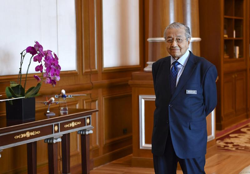 Prime Minister Tun Dr Mahathir Mohamad is seen at his office in Putrajaya June 25, 2019. — Bernama pic