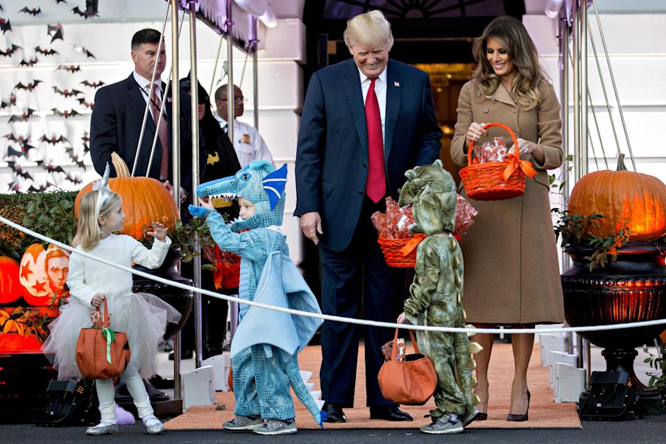 The Trumps celebrate Halloween 2017 at the White House. (Photo: Getty Images)