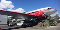"""<p>Okay, so this plane doesn't actually fly anymore, but this vintage South Pacific Airlines giant metal bird was decommissioned and <a href=""""https://www.yelp.com/biz/mcdonalds-taupo"""" rel=""""nofollow noopener"""" target=""""_blank"""" data-ylk=""""slk:flipped into a McDonald's"""" class=""""link rapid-noclick-resp"""">flipped into a McDonald's</a> in 1990. The main cabin has been converted into a 20-seat dining room and the cockpit is still in its original condition. </p>"""