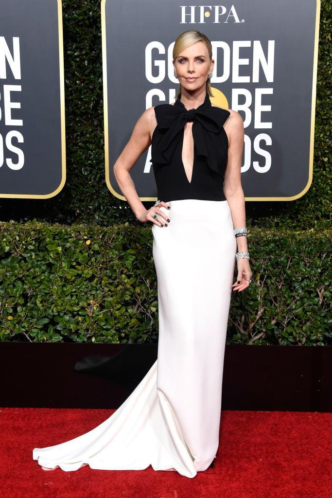 <p>Charlize Theron attends the 76th Annual Golden Globe Awards at the Beverly Hilton Hotel in Beverly Hills, Calif., on Jan. 6, 2019. (Photo: Getty Images) </p>