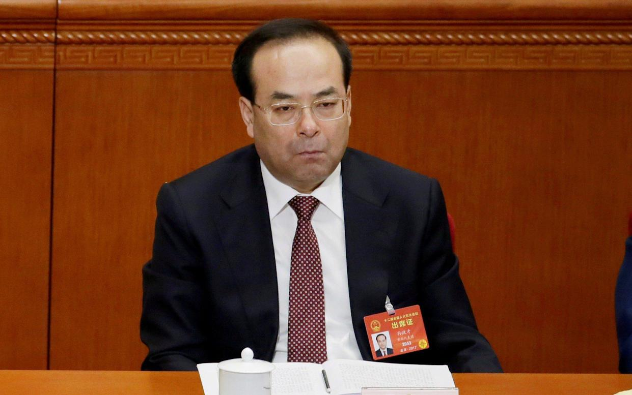 Sun Zhengcai, a member of the Communist Party's elite 25-member Politburo, was jailed on Monday. President Xi's anti-corruption drive has been criticised as a means to sideline opponents - REUTERS