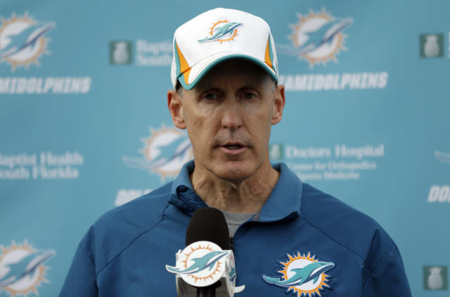 Miami Dolphins head coach Joe Philbin responds to questions during a media availability following an NFL football practice, Monday, Nov. 4, 2013, in Davie, Fla. The Dolphins suspended guard Richie Incognito Sunday for misconduct related to the treatment of teammate Jonathan Martin, who abruptly left the team a week ago to receive help for emotional issues. (AP Photo/Lynne Sladky)
