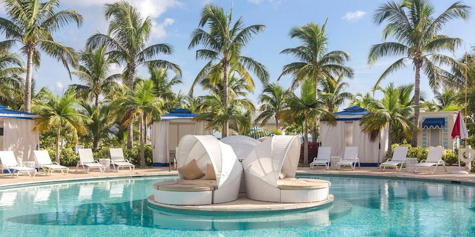 """<p>The Bahamas, a string of 700 islands, has it all: miles of Insta-worthy beaches, casinos, craft markets, and endless water activities. On the main island of Nassau are <a rel=""""nofollow noopener"""" href=""""https://www.bestproducts.com/fun-things-to-do/g3153/best-bahamas-resorts/"""" target=""""_blank"""" data-ylk=""""slk:high-end resorts"""" class=""""link rapid-noclick-resp"""">high-end resorts</a> like the new <a rel=""""nofollow noopener"""" href=""""https://bahamar.com/"""" target=""""_blank"""" data-ylk=""""slk:Baha Mar"""" class=""""link rapid-noclick-resp"""">Baha Mar</a> complex, along with dining and nightlife, while <a rel=""""nofollow noopener"""" href=""""https://www.bestproducts.com/fun-things-to-do/g21237324/most-beautiful-islands-in-the-world/"""" target=""""_blank"""" data-ylk=""""slk:Harbour Island"""" class=""""link rapid-noclick-resp"""">Harbour Island</a> is known for its pink-sand beaches and pastel-hued houses, and the Exumas chain is remote and super laid-back. </p>"""