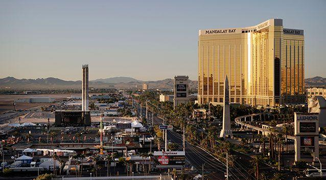 Police say a smoke alarm helped them determine Paddock's location in the Mandalay Bay hotel. Source: AAP