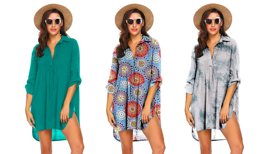 Accessorize your Ekouaer Swimsuit Cover Up — it was made to be noticed! (Photo: Amazon)