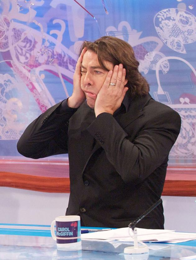 Jonathon Ross tried out a new look on Loose Women – leave your face alone, Wossy, the wind might change!