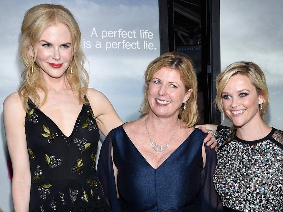 A-listers Kidman and Reese Witherspoon with Moriarty (centre) (Getty)