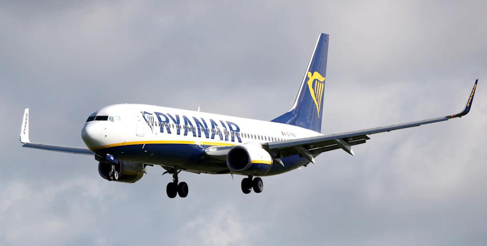"File photo dated 04/10/17 of a Ryanair plane. Ryanair said it suffered the ""most challenging"" quarter in its 35-year history as it reported a loss of 185 million euro (�168 million)."