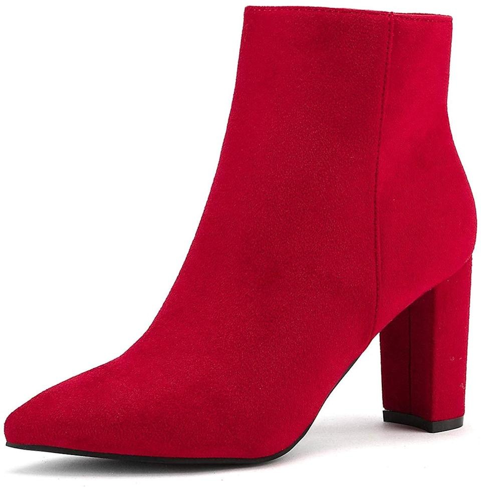 """<p>No holiday outfit is complete without these <a href=""""https://www.popsugar.com/buy/DREAM-PAIRS-Chunky-High-Heel-Ankle-Booties-523491?p_name=DREAM%20PAIRS%20Chunky%20High%20Heel%20Ankle%20Booties&retailer=amazon.com&pid=523491&price=33&evar1=fab%3Auk&evar9=46947746&evar98=https%3A%2F%2Fwww.popsugar.com%2Ffashion%2Fphoto-gallery%2F46947746%2Fimage%2F46949294%2FDREAM-PAIRS-Chunky-High-Heel-Ankle-Booties&list1=shopping%2Camazon%2Choliday%2Choliday%20fashion%2Cfashion%20shopping&prop13=api&pdata=1"""" rel=""""nofollow noopener"""" class=""""link rapid-noclick-resp"""" target=""""_blank"""" data-ylk=""""slk:DREAM PAIRS Chunky High Heel Ankle Booties"""">DREAM PAIRS Chunky High Heel Ankle Booties</a> ($33).</p>"""