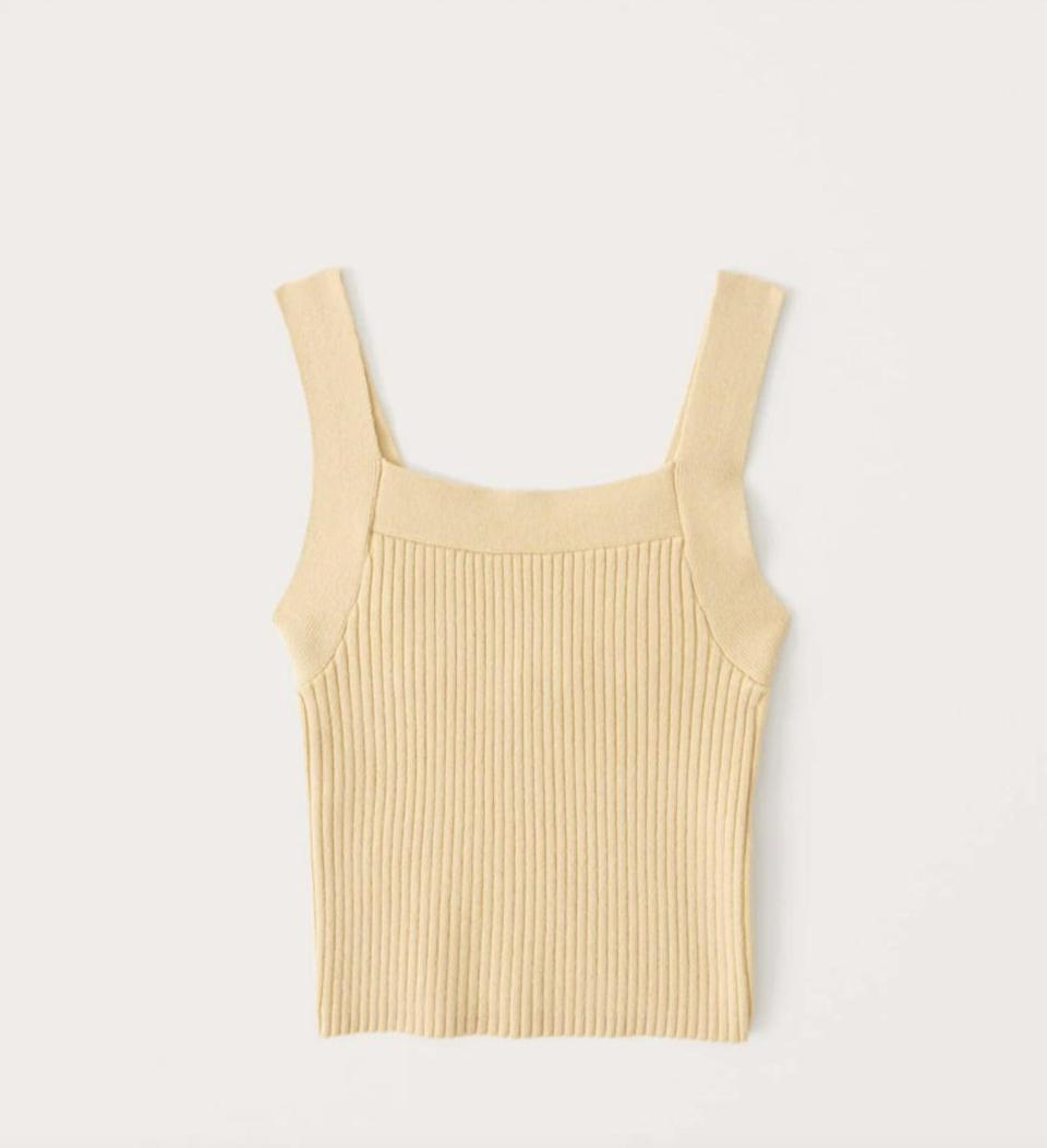 <p>What can't you wear with this <span>Ribbed Squareneck Sweater Tank</span> ($39)? </p>