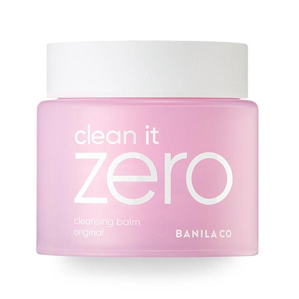 "<p>No list about popular Korean skin-care products is complete without <a href=""https://www.allure.com/story/banila-co-sherbet-cleansing-balm-clean-it-zero-sold-every-three-seconds?mbid=synd_yahoo_rss"" rel=""nofollow noopener"" target=""_blank"" data-ylk=""slk:Banila Co's Clean It Zero"" class=""link rapid-noclick-resp"">Banila Co's Clean It Zero</a> Cleansing Balm, which sells a jar around the world every few seconds. Similar to <a href=""https://www.allure.com/gallery/best-cleansing-oil?mbid=synd_yahoo_rss"" rel=""nofollow noopener"" target=""_blank"" data-ylk=""slk:oil cleansers"" class=""link rapid-noclick-resp"">oil cleansers</a>, this <a href=""https://www.allure.com/gallery/best-cleansing-balms?mbid=synd_yahoo_rss"" rel=""nofollow noopener"" target=""_blank"" data-ylk=""slk:sherbet-like solid"" class=""link rapid-noclick-resp"">sherbet-like solid</a> should be applied to <em>dr</em>y skin and thoroughly massaged in — this is where it melts into a smooth oil — to break down all of the makeup (waterproof and otherwise) and dirt accumulated from the day. Spiked with antioxidant-rich <a href=""https://www.allure.com/story/vitamin-c-benefits-for-skin?mbid=synd_yahoo_rss"" rel=""nofollow noopener"" target=""_blank"" data-ylk=""slk:vitamins C"" class=""link rapid-noclick-resp"">vitamins C</a> and <a href=""https://www.allure.com/story/vitamin-e-skin-care?mbid=synd_yahoo_rss"" rel=""nofollow noopener"" target=""_blank"" data-ylk=""slk:E"" class=""link rapid-noclick-resp"">E</a>, it's impossibly gentle and never leaves skin feeling stripped, making it the perfect first step to any <a href=""https://www.allure.com/story/what-is-double-cleansing?mbid=synd_yahoo_rss"" rel=""nofollow noopener"" target=""_blank"" data-ylk=""slk:double-cleansing routine"" class=""link rapid-noclick-resp"">double-cleansing routine</a>.</p> <p>One last thing: If Original (pictured above) doesn't quite cut it for you, the balm is also available in <a href=""https://www.allure.com/review/banila-co-clean-it-zero-purifying-oil-cleanser?mbid=synd_yahoo_rss"" rel=""nofollow noopener"" target=""_blank"" data-ylk=""slk:Purifying"" class=""link rapid-noclick-resp"">Purifying</a>, Nourishing, and Revitalizing versions.</p> $22, Amazon. <a href=""https://www.amazon.com/BANILA-CO-Clean-Cleansing-Original/dp/B07BSVJ4H8"" rel=""nofollow noopener"" target=""_blank"" data-ylk=""slk:Get it now!"" class=""link rapid-noclick-resp"">Get it now!</a>"