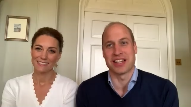 The Duke and Duchess of Cambridge marked Shout's first anniversary with a Zoom call. (Kensington Royal)