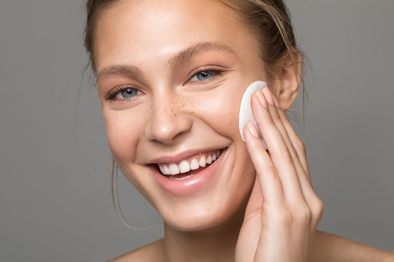 """<p>Chemical exfoliants loosen the bonds between cells, ridding your skin of dead or loose ones. """"The ingredients remove debris from clogged pores and encourage increased cell turnover, which means you'll have fresh skin at the surface,"""" Dr. Bhanusali said. This will result in fewer breakouts and a more even complexion.</p>"""