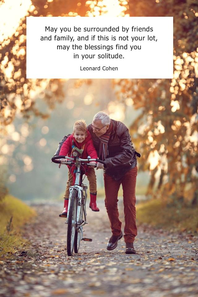 """<p>""""May you be surrounded by friends and family, and if this is not your lot, may the blessings find you in your solitude.""""</p>"""