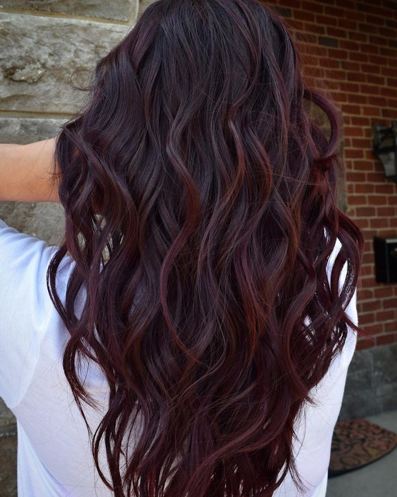 Wine Hair Is The Best Way For Brunettes To Rock Deep Purple This Fall