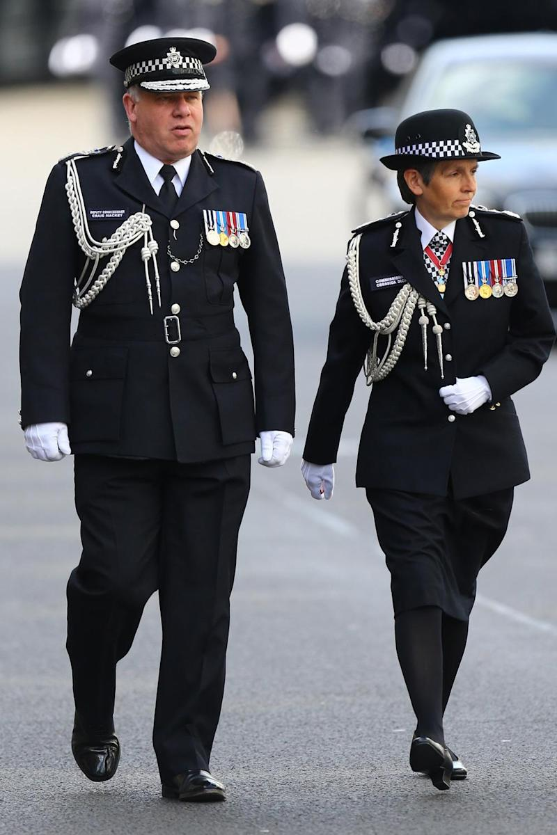 Metropolitan Police commissioner Cressida Dick (right) and Deputy commissioner Craig Mackey (PA)