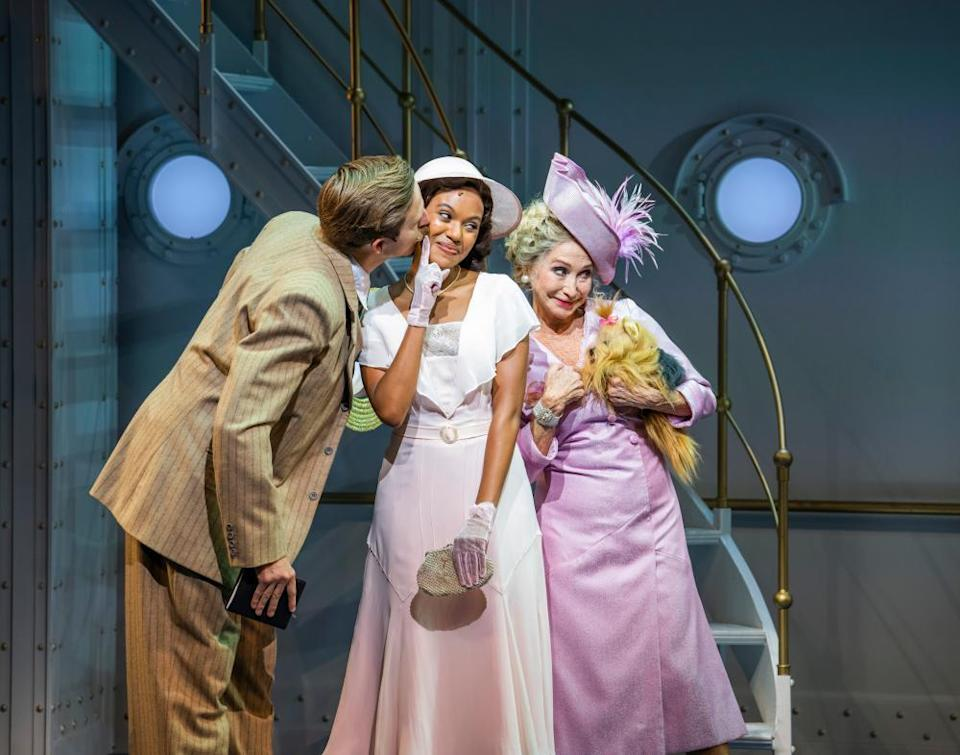 Nicole-Lily Baisden, centre, with Haydn Oakley and Felicity Kendal.