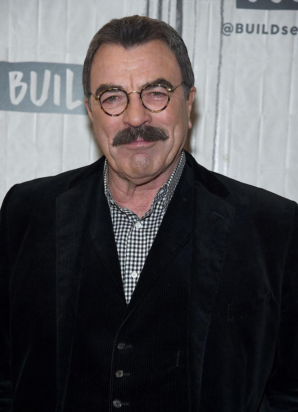 """<p>Tom Selleck earned a spot as a <a href=""""https://www.sports-reference.com/cbb/players/tom-selleck-1.html"""" rel=""""nofollow noopener"""" target=""""_blank"""" data-ylk=""""slk:Trojan on the basketball team"""" class=""""link rapid-noclick-resp"""">Trojan on the basketball team</a> at the University of Southern California. He played on the team from 1965 to 1966, but dropped out of school for his acting career. </p>"""