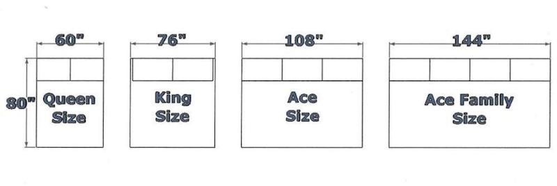 The 'family sized' bed is twice the size of a king. Photo: Ace
