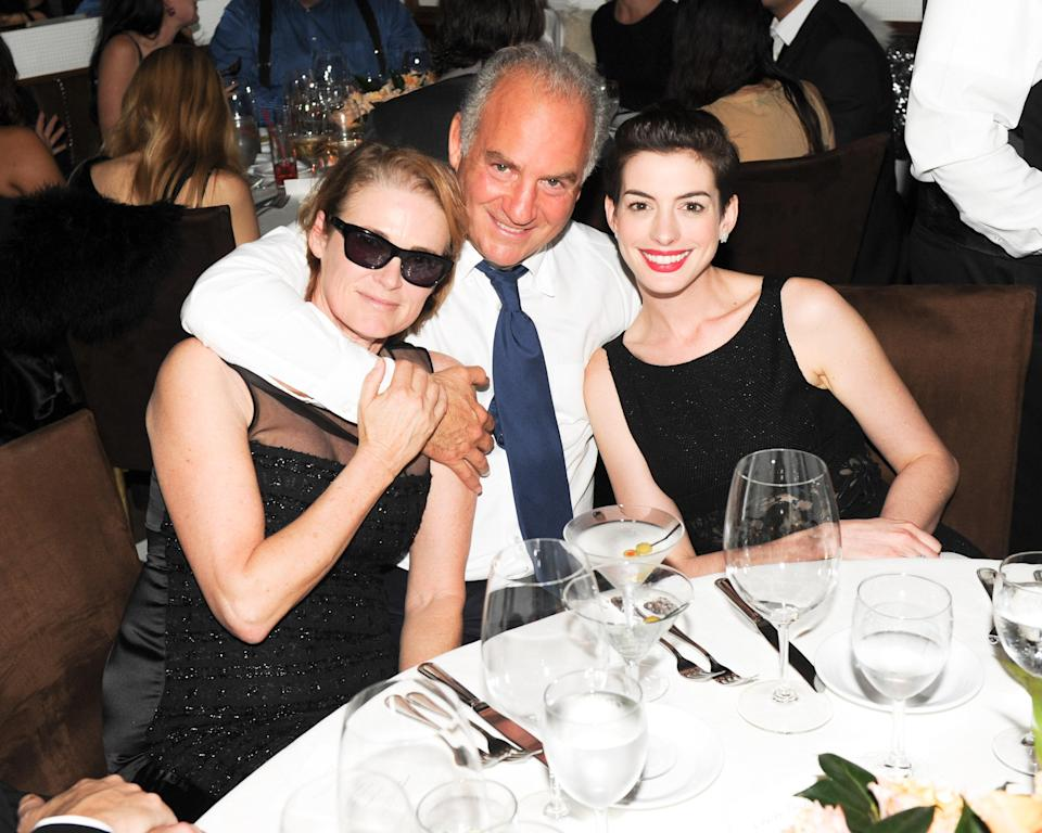 Lisa Love, Charles Finch, and Anne Hathaway, 2014