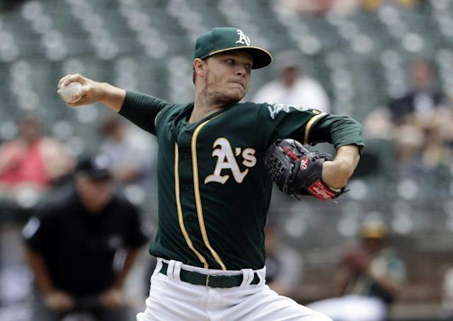 "The A's have reportedly traded pitcher <a class=""link rapid-noclick-resp"" href=""/mlb/players/9459/"" data-ylk=""slk:Sonny Gray"">Sonny Gray</a> to the Yankees. (AP)"