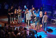 """<p>Randy Travis, moments before the crowd erupted at his resounding """"amen"""" to close out his iconic country song, """"Forever and Ever Amen,"""" at The Mother Church of Country Music, the historic Ryman Auditorium. </p>"""