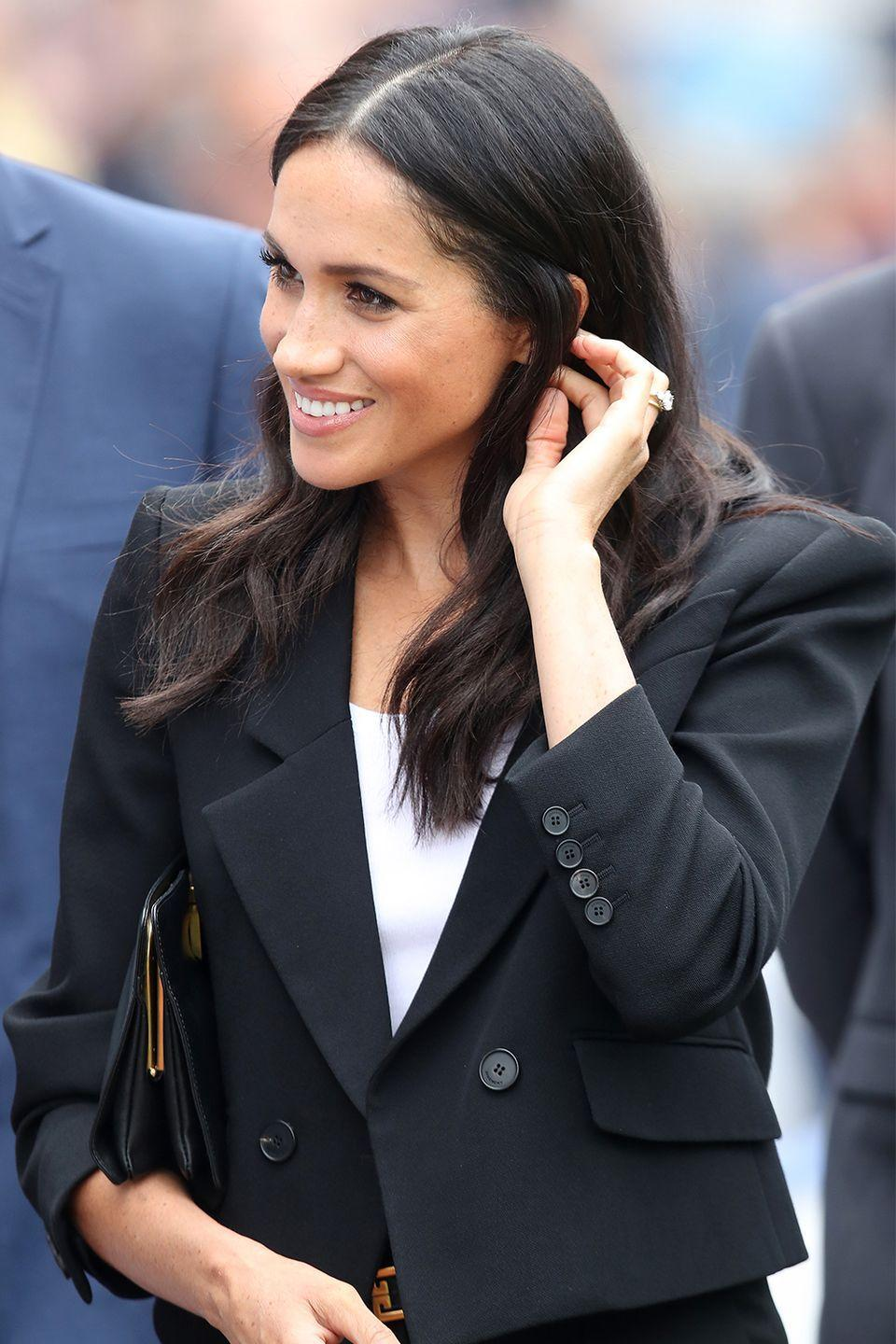 """<p>In addition to being prohibited from running for office, royal family members don't make their political opinions known. But during Meghan's official visit to Ireland earlier this month, an Irish politician wrote in a since-deleted Tweet that the Duchess of Sussex was <a href=""""https://www.marieclaire.com/celebrity/a22117810/meghan-markle-ireland-abortion-referendum/"""" rel=""""nofollow noopener"""" target=""""_blank"""" data-ylk=""""slk:""""pleased"""""""" class=""""link rapid-noclick-resp"""">""""pleased""""</a> with the country's effort to legalize abortion. </p>"""