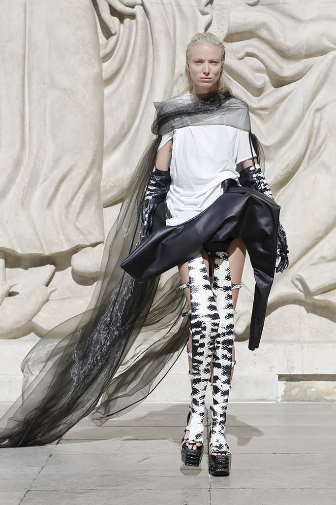 Rick Owens spring '22. - Credit: Courtesy of Owenscorp