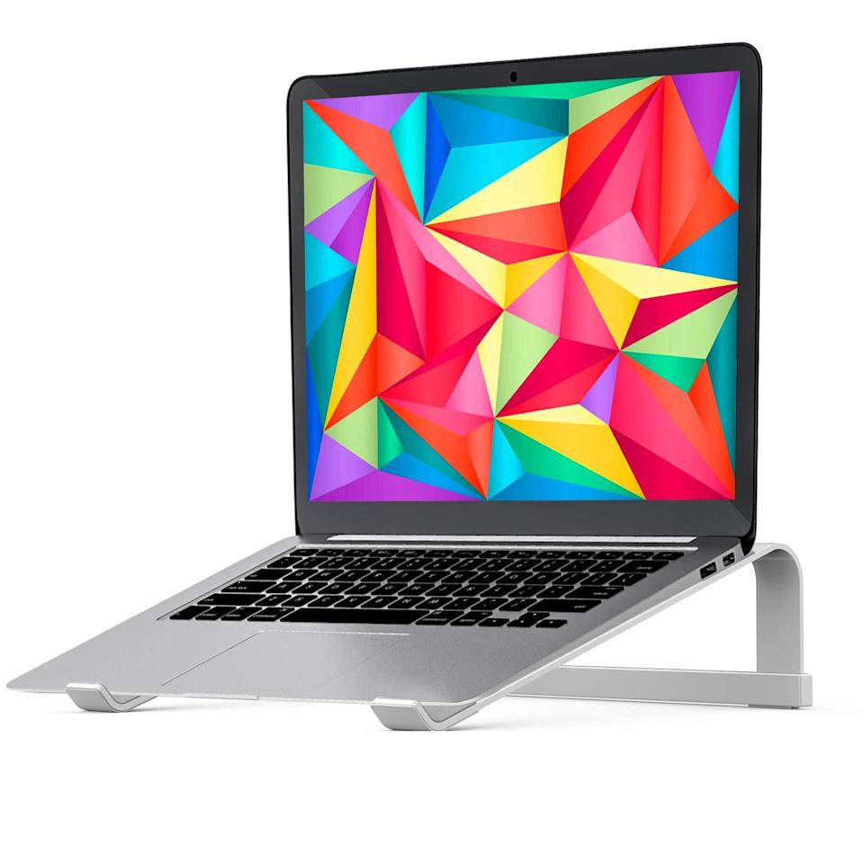 "<h2>Lenrue Stable MacBook Pro Stand</h2><br><strong>Best For: Ventilhation</strong><br>You've been using your computer for hours, it's whirring like a washing machine, and your lap is melting away. This small but mighty stand with its hallow-carved design was made to save you and your overheated comp.<br><br><em>Shop</em> <strong><em><a href=""https://amzn.to/39Kg6bX"" rel=""nofollow noopener"" target=""_blank"" data-ylk=""slk:Lenrue"" class=""link rapid-noclick-resp"">Lenrue</a></em></strong> <br><br><strong>Lenrue</strong> Stable MacBook Pro Stand, $, available at <a href=""https://amzn.to/2PCRJFZ"" rel=""nofollow noopener"" target=""_blank"" data-ylk=""slk:Amazon"" class=""link rapid-noclick-resp"">Amazon</a>"